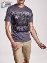 Grafitowy t-shirt męski AVENGERS                                                                          zdj.                                                                         3