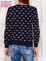 Granatowa bluza motyw kokardek                                  zdj.                                  4