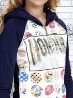 Granatowa bluza z kapturem i napisem HONOUR                                                                          zdj.                                                                         6