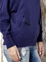 Granatowa bluza z kapturem z kołeczkami Funk n Soul
