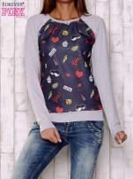 Granatowa bluza z motywami komiksowymi                                  zdj.                                  1