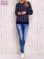 Granatowa bluza z motywem sów                                  zdj.                                  4