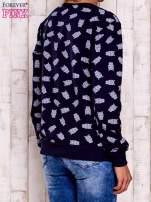 Granatowa bluza z motywem sów                                  zdj.                                  2