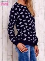 Granatowa bluza z motywem sów                                  zdj.                                  3