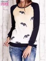 Granatowa bluza z nadrukiem buldożków