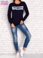 Granatowa bluza z napisem ARIGATO                                                                          zdj.                                                                         2