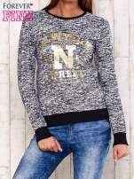 Granatowa bluza z napisem NEW YORK STREET                                  zdj.                                  1