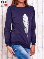 Szara bluza z piórkiem                                                                          zdj.                                                                         3