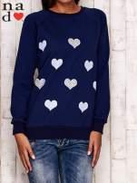 Granatowa bluza z serduszkami                                  zdj.                                  1