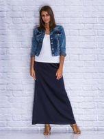 Granatowa długa spódnica maxi