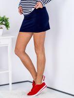 Granatowa dresowa spódnica mini                                  zdj.                                  5