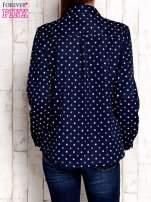 Granatowa koszula z graficznym nadrukiem