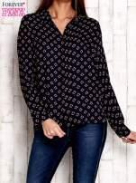 Granatowa koszula z morskim nadrukiem                                  zdj.                                  1