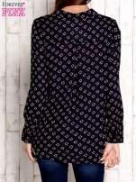 Granatowa koszula z morskim nadrukiem                                  zdj.                                  2