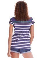 Granatowa koszulka polo w paski                                  zdj.                                  3