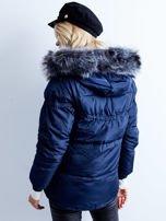 Granatowa kurtka zimowa pikowana                                  zdj.                                  2