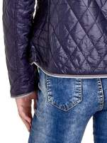 Granatowa pikowana kurtka typu husky                                  zdj.                                  8