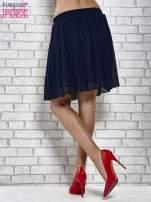 Granatowa plisowana spódnica do kolan                                                                          zdj.                                                                         5