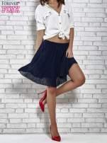 Granatowa plisowana spódnica do kolan                                  zdj.                                  3