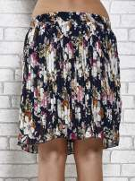 Granatowa plisowana spódnica w kwiaty                                                                          zdj.                                                                         7