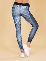 Granatowe legginsy we wzory                                  zdj.                                  2