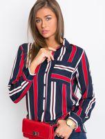 Granatowo-czerwona koszula Crush                                  zdj.                                  5