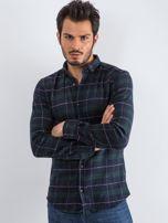 Granatowo-zielona koszula męska Lumberjack                                  zdj.                                  3