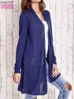Granatowy długi sweter                                   zdj.                                  3