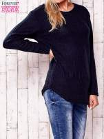 Granatowy dzianinowy sweter                                   zdj.                                  3