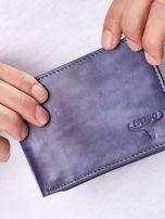 Granatowy portfel męski ze skóry naturalnej                                  zdj.                                  1