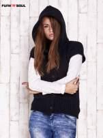 Granatowy sweter z futrzanym kapturem FUNK N SOUL                                                                          zdj.                                                                         5