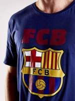 Granatowy t-shirt męski z motywem FC BARCELONA                                                                          zdj.                                                                         6