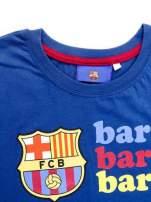 Granatowy t-shirt męski z nadrukiem FC BARCELONA                                  zdj.                                  11