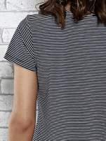 Granatowy t-shirt z motywem fast food                                  zdj.                                  6