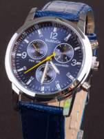 Granatowy zegarek damski z ozdobnym tachometrem                                  zdj.                                  2