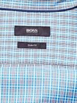 HUGO BOSS Niebieska koszula męska w kolorową kratkę                                  zdj.                                  4