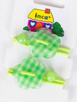 INCA Gumki do włosów zielone z ozdobą Komplet 2 szt                                  zdj.                                  1