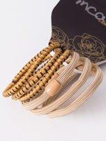 INCA Komplet kolorowych gumek do włosów w odcieniach beżu 6 szt.