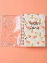 Jasnobeżowy notes we flamingi                                  zdj.                                  3