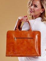 Jasnobrązowa torba damska ze skóry w miejskim stylu                                  zdj.                                  7
