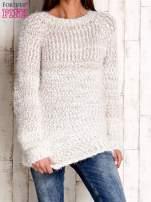 Jasnobrązowy melanżowy sweter long hair