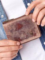 Jasnobrązowy portfel męski na suwak                                  zdj.                                  7