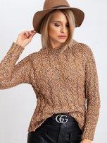 Jasnobrązowy sweter Erika                                  zdj.                                  6
