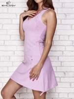 Jasnofioletowa trapezowa sukienka sportowa                                                                           zdj.                                                                         3