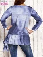 Jasnoniebieska asymetryczna tunika                                  zdj.                                  2
