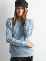 Jasnoniebieska bluza damska basic                                  zdj.                                  1