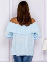Jasnoniebieska bluzka hiszpanka z podwijanymi rękawami                                  zdj.                                  2