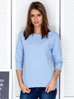 Jasnoniebieska bluzka z bocznymi suwakami                                  zdj.                                  1
