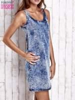Jasnoniebieska jeansowa sukienka z motywem panterki                                  zdj.                                  3