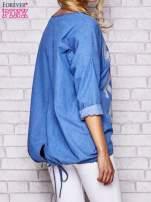 Jasnoniebieska jeansowa tunika ze sznureczkiem